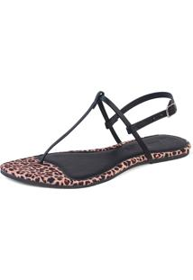 Rasteira Mercedita Shoes Onã§A - Bege - Feminino - Dafiti