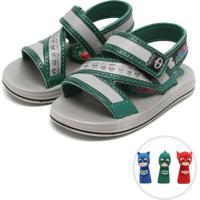 74a3602ba2 Sandália Grendene Kids Pj Masks Dedoche Verde Cinza