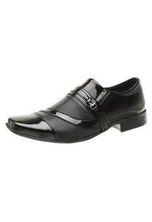 Sapato Social Gasparini Fechamento Elástico Em Verniz Preto