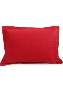 Porta Travesseiro Avulso Matelado - Juma - Vermelho