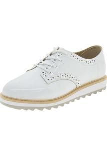 Sapato Infantil Feminino Oxford Branco Molekinha - 2510418