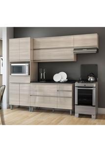 Cozinha Compacta Belíssima Plus 9 Pt 4 Gv Saara Wood E Granito Slate
