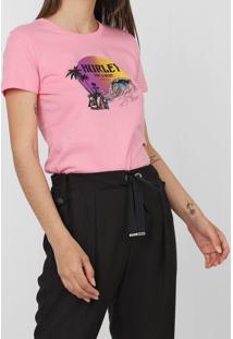Camiseta Hurley Beachside Rosa