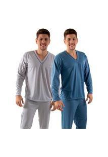 Kit 2 Pijamas Longos 080 Linha Noite