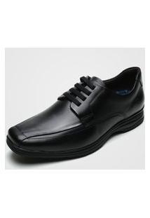 Sapato Social Democrata Liso Preto