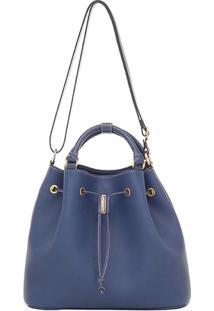 Bolsa Saco Smartbag Transversal - Feminino-Azul e6b38ab3cd1