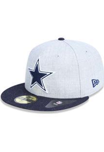 59d25174a Boné 5950 Dallas Cowboys Nfl Aba Reta New Era - Masculino-Mescla