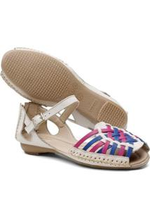 Tamanco Top Franca Shoes Babuche Feminina - Feminino-Bege