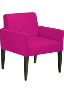 Poltrona Decorativa Dani Para Sala E Recepção Suede Pink - D'Rossi