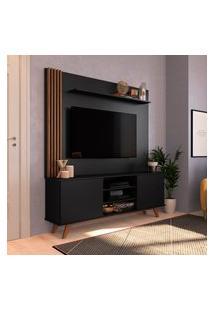 Estante Home Para Tv 50 Pol Estilare Disco 2 Portas Preto