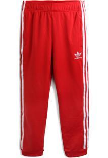 Calça Adidas Originals Menina Logo Vermelha - Tricae