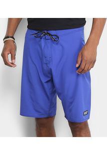 Bermuda D'Água Calvin Klein Básica Elastano Masculina - Masculino-Azul