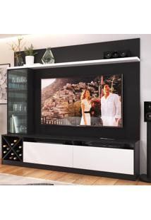 Estante Para Tv Até 50 Polegadas 2 Portas 2021 Ptx/Bac Preto/Branco - Quiditá Móveis