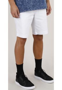 Bermuda De Sarja Masculina Slim Branca