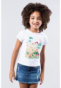 Camiseta Infantil Quem Reserva Mini Feminina - Feminino-Branco
