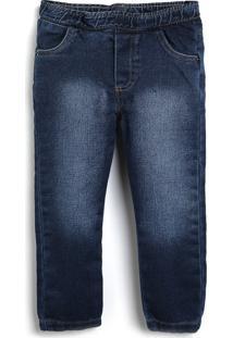 Calça Jeans Colorittá Infantil Lisa Azul-Marinho