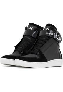 Sneaker K3 Fitness Stylish Preto - Preto - Feminino - Couro LegãTimo - Dafiti
