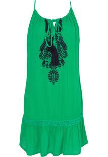 Vestido Isabela Amarração - Verde