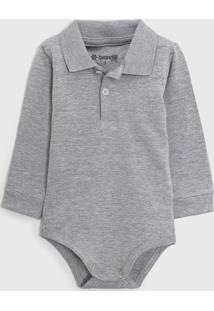 Body Brandili Infantil Polo Cinza