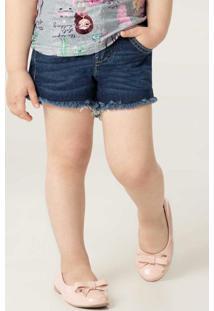 Shorts Azul Escuro Comfort Jeans