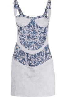 Atu Body Couture Printed Bustier Mini Dress - Azul