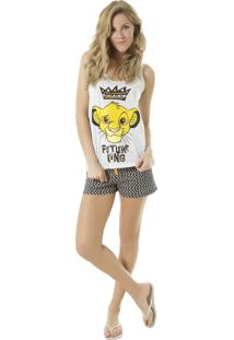 Pijama Simba Cinza Mescla