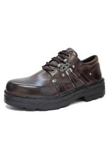 Bota Sapato Estilo Sovietico Netony Calçados Café