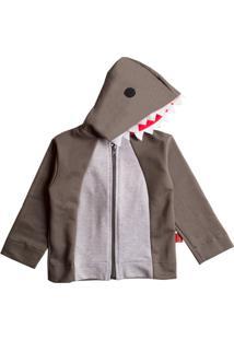 Casaco Moletom Infantil Tubarão