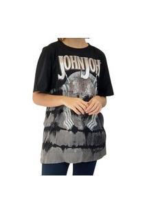 Camiseta John John Skull Preta