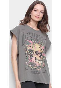 Camiseta Colcci Caveira Sleeveless Feminina - Feminino