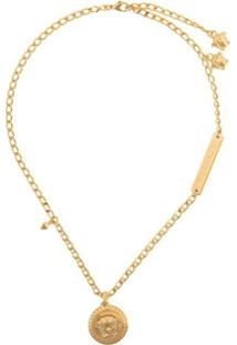 Versace Medusa Pendant Short Necklace - Dourado
