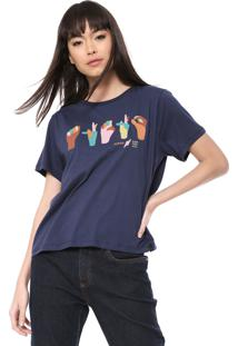 Camiseta Cantão Libras Azul-Marinho