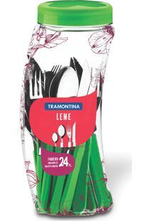 Faqueiro Tramontina Leme 23198231 Inox 24 Peças Verde