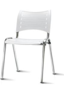 Cadeira Iso Assento Branco Base Cromada - 54036 - Sun House