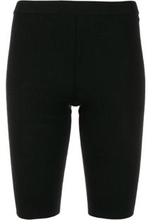 Mrz Knitted Cycling Shorts - Preto