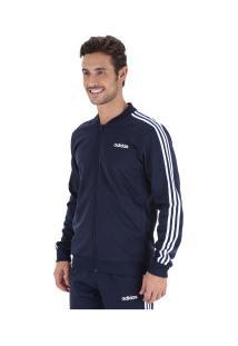Agasalho Adidas Back 2 Basic 3S Track - Masculino - Azul Escuro