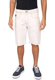 Bermuda Sarja Hang Loose Reta Cloud Off-White
