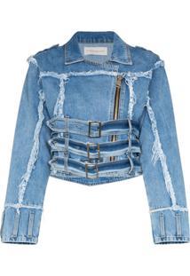Faith Connexion Distressed Effect Denim Jacket - Azul