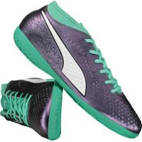 ad99db6771b Chuteira Puma One 4 Il Syn It Futsal Verde