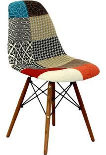 Cadeira Eames Dkr- Vermelha & Madeira Escura- 80,5X4Or Design