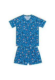 Pijama Infantil Masculino Carinhas Fakini