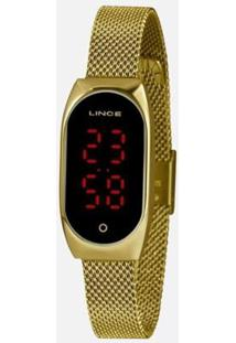 Relógio Lince Led Digital Ldg4641L Pxkx Feminino - Feminino-Dourado