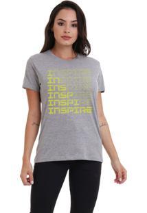Camiseta Feminina Jay Jay Inspire Neon Amarelo Mescla - Kanui