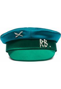 Ruslan Baginskiy Chapéu Com Aplicação De Cristais - Azul