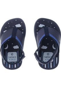Chinelo Cartago Kids Night Marinho Azul