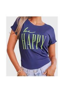 Camiseta Happy Azul