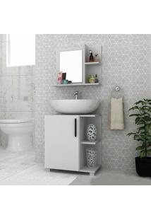 Armário De Banheiro 1 Porta Bbn17 Branco - Brv Móveis