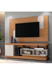 Rack Com Painel Extensível Para Tv Até 55 Polegadas Tijuca Marrom E Off White 181 Cm