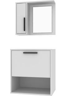 Conjunto Para Banheiro Bbn 18-Brv Móveis - Branco