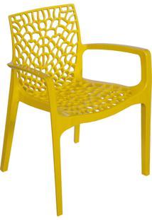 Cadeira Gruvyer Com Braço Amarelo Or Design